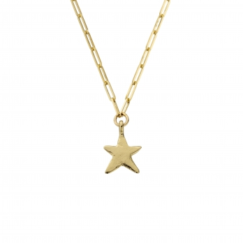 Gold Midi Star Trace Chain Necklace