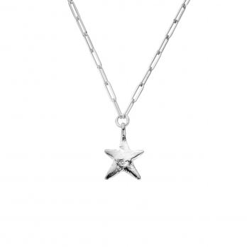 Silver Midi Star Trace Chain Necklace