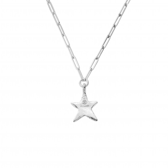 Midi Star Trace Chain Necklace detailed