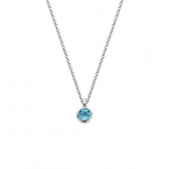 Silver Blue Topaz Baby Treasure Necklace
