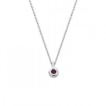 Silver Amethyst Baby Treasure Necklace detailed