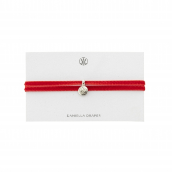 DD Tag Post Box Red Ribbon Bracelet