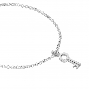 Silver Mini Dreamer's Key Chain Bracelet detailed