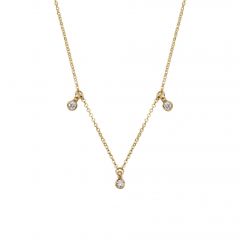 Gold Trio Diamond Necklace