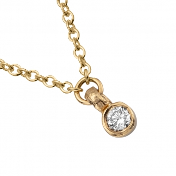 Gold Trio Diamond Necklace detailed