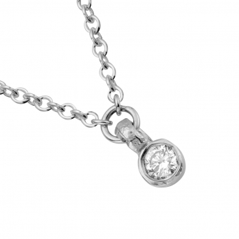 Silver Trio Diamond Necklace detailed