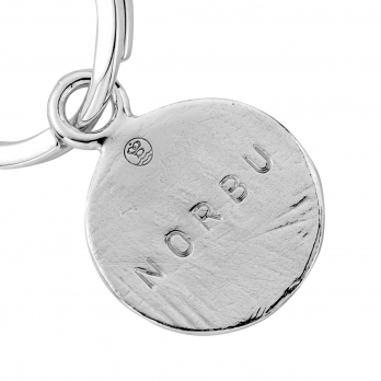 Silver Disc Dog Tag detailed