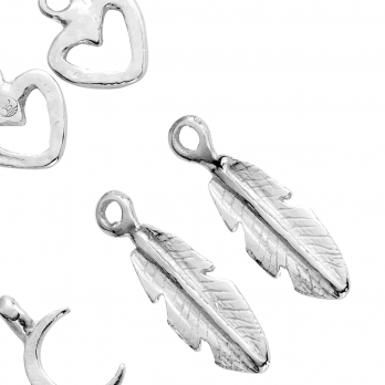 Silver Earring Charms detailed
