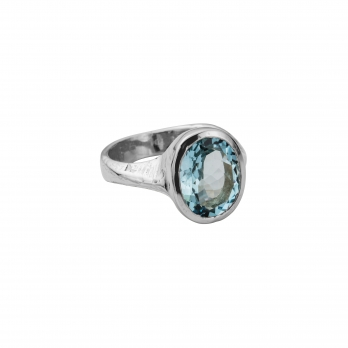EOS Aquamarine Silver Ring