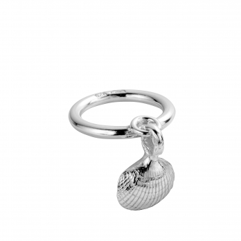 Silver Falling Mini Shell Ring