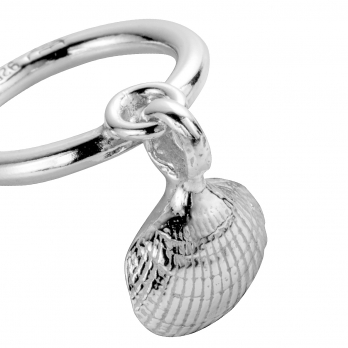 Silver Falling Shell Ring detailed