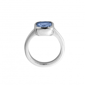 GALIA Silver Blue Sapphire Ring detailed