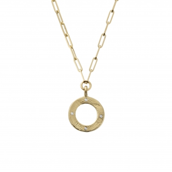 Gold 4 Diamond Luxury Forever Necklace