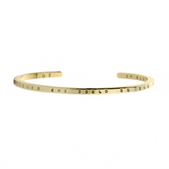 Limited Edition Gold Believe Bangle