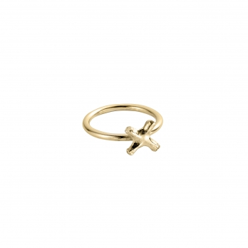 Gold Love Struck Mini Kiss Ring