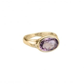 Gold Amethyst Treasure Ring