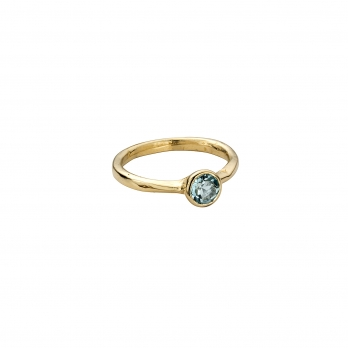 Gold Aquamarine Baby Stone Ring