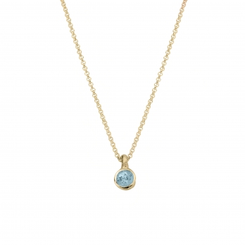 Gold Baby Treasure Aquamarine Necklace