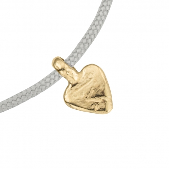 Gold Baby Heart Sailing Rope detailed