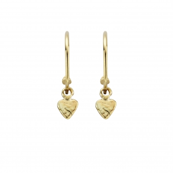 Gold Maxi Cupid Hoops with Baby Heart Charms