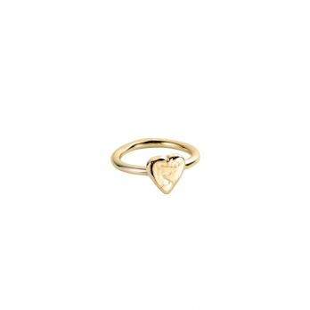 Gold Love Struck Baby Heart Ring