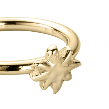 Gold Love Struck Baby North Star Ring detailed