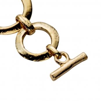 Gold Bit Bracelet detailed