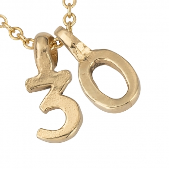 Gold Alphabet Charm Necklace detailed