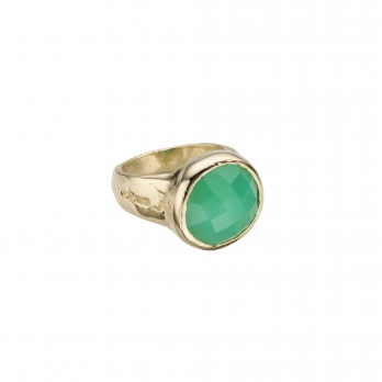 Gold Chrysoprase Mood Ring
