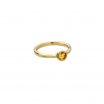 Gold Citrine Baby Stone Ring