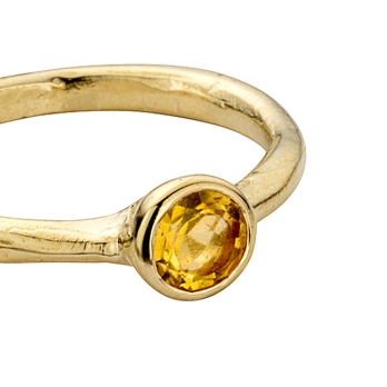 Gold Citrine Baby Stone Ring detailed