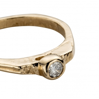Gold Diamond Promise Ring detailed