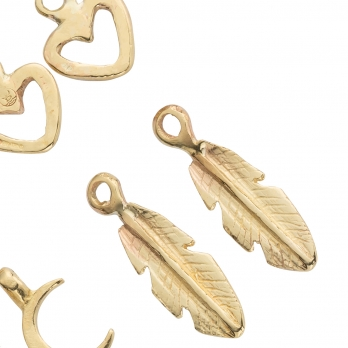 Gold Earring Charms detailed