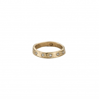 Gold 5 Diamond Midi Posey Ring