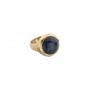 Gold Lapis Mood Ring