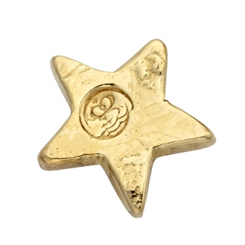 Gold Little Star Single Ear Charm detailed