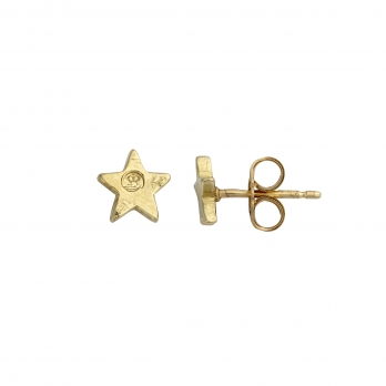 Gold Little Star Ear Charm Set detailed