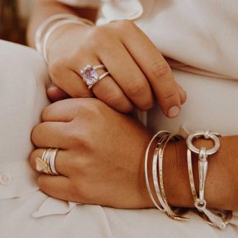 Gold Love Struck Mini Heart Ring detailed