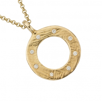 Gold Luxury Forever Necklace detailed