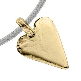 Gold Midi Heart Sailing Rope detailed