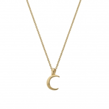 Gold Mini Crescent Moon Necklace