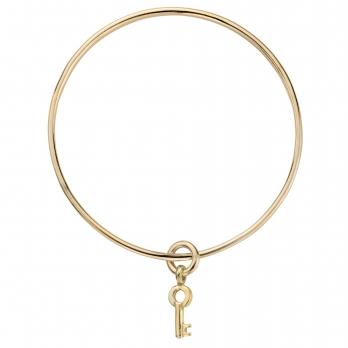 Gold Mini Dreamer's Key Bangle