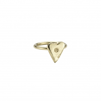 Gold Love Struck Mini Heart Ring