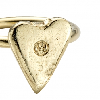 Gold Love Struck Mini Heart Ring detailed