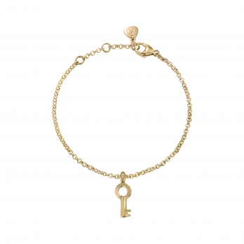 Gold Mini Dreamer's Key Chain Bracelet
