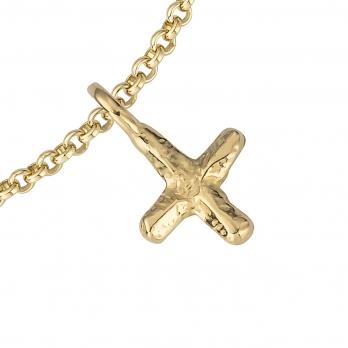 Gold Mini Kiss Chain Bracelet detailed