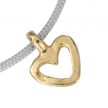 Gold Mini Open Heart Sailing Rope detailed