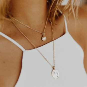 Gold Mini Shell Necklace detailed
