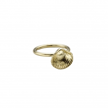 Gold Love Struck Mini Shell Ring
