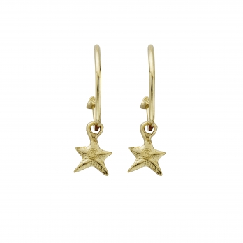 Gold Maxi Cupid Hoops With Mini Star Charms